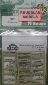 RATIO 307 N GAUGE CHIMNEYS - (PRICE INCLUDES DELIVERY)
