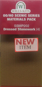 WILLS SSMP202 OO/1:76 DRESSED STONEWORK (4) - (PRICE INCLUDES DELIVERY)