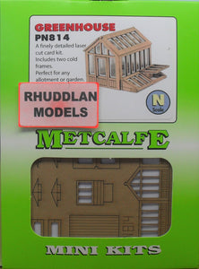 METCALFE PN814 N GAUGE GREENHOUSE - (PRICE INCLUDES DELIVERY)