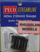 Load image into Gallery viewer, PECO STREAMLINE SL-1440 HOm GAUGE BUFFER STOP RAIL TYPE - (PRICE INCLUDES DELIVERY)