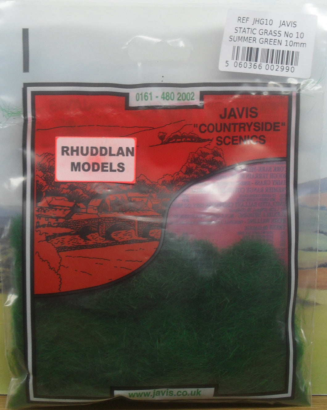 JAVIS REF JHG10 STATIC GRASS NO.10 SUMMER GREEN 10MM - (PRICE INCLUDES DELIVERY)