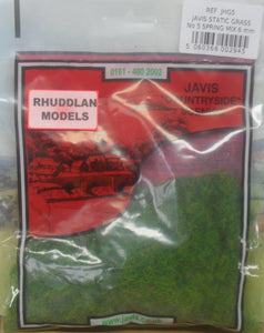 JAVIS REF JHG5 STATIC GRASS NO.5 SPIRING MIX 6MM - (PRICE INCLUDES DELIVERY)