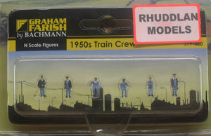 GRAHAM FARISH 379-320 N GAUGE 1950 TRAIN CREW - (PRICE INCLUDES DELIVERY)