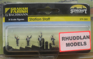 GRAHAM FARISH 379-303 N GAUGE STATION STAFF - (PRICE INCLUDES DELIVERY)