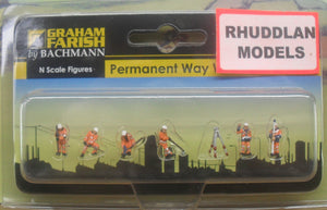 GRAHAM FARISH 379-310 N GAUGE PERMANENT WAY WORKERS - (PRICE INCLUDES DELIVERY)