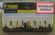 Load image into Gallery viewer, GRAHAM FARISH 379-311 N GAUGE TRACTION MAINTENANCE DEPOT WORKERS - (PRICE INCLUDES DELIVERY)