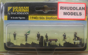 GRAHAM FARISH 379-317 N GAUGE 1940/50 STATION STAFF - (PRICE INCLUDES DELIVERY)