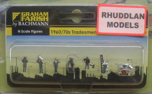 GRAHAM FARISH 379-329 N GAUGE 1960/70 TRADESMEN - (PRICE INCLUDES DELIVERY)
