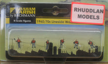 Load image into Gallery viewer, GRAHAM FARISH 379-330 N GAUGE 1960/70 LINESIDEWORKERS - (PRICE INCLUDES DELIVERY)