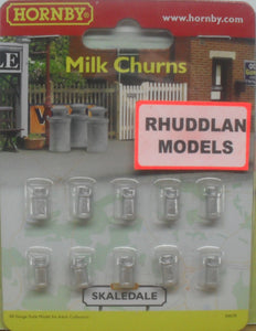 HORNBY SKALEDALE R8678 00/1:76 MILK CHURNS - (PRICE INCLUDES DELIVERY)