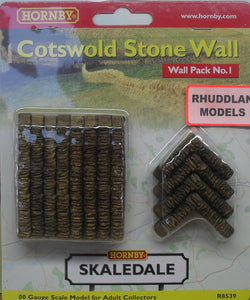 HORNBY SKALEDALE R8539 OO/1.76 WALL PACK NO.1 COTSWOLD STONE WALL - (PRICE INCLUDES DELIVERY)