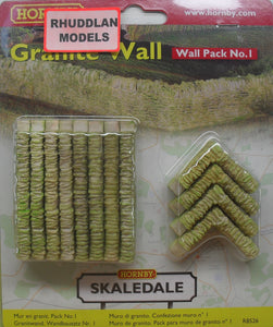 HORNBY SKALEDALE R8526 OO/1.76 WALL PACK NO.1 GRANITE WALL - (PRICE INCLUDES DELIVERY)