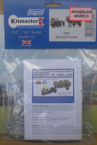 DAPOL C033 OO/1:76 SCAMMELL SCARAB - (PRICE INCLUDES DELIVERY)