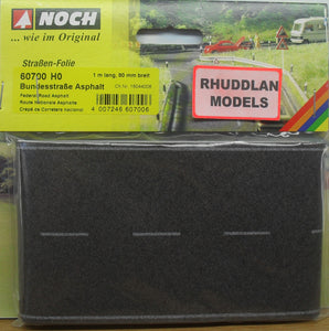 NOCH 60700 HO SCALE FEDERAL ROAD, ASPHALT - (PRICE INCLUDES DELIVERY)