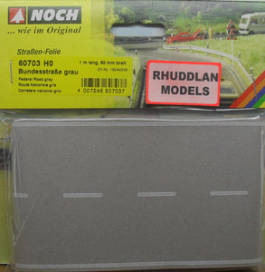 NOCH 60703 HO SCALE FEDERAL ROAD, GREY (PRICE INCLUDES DELIVERY)