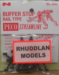 PECO STREAMLINE SL-340 N GAUGE BUFFER STOP RAIL TYPE - (PRICE INCLUDES DELIVERY)
