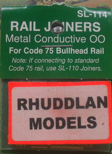 PECO STREAMLINE SL-114 OO/1:76 BULLHEAD RAIL JOINERS - (PRICE INCLUDES DELIVERY)