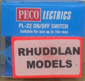 PECO LECTRICS PL-22 ON/OFF SWITCH - (PRICE INCLUDES DELIVERY)