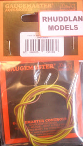 GAUGEMASTER ACCESSORIES GM 16 PAIR OF PIN END TERMINATED LEADS 1M - (PRICE INCLUDES DELIVERY)