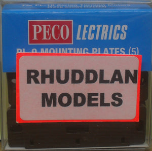 PECO LECTRICS PL-9 MOUNTING PLATES (5) - (PRICE INCLUDES DELIVERY)
