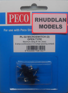 PECO LECTRICS PL-32 MICROSWITCH (2) OPEN TYPE - (PRICE INCLUDES DELIVERY)