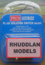 Load image into Gallery viewer, PECO LECTRICS PL-20 ISOLATING SWITCH ON/OFF - (PRICE INCLUDES DELIVERY)