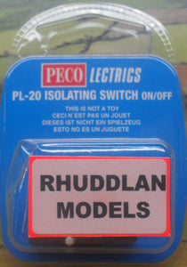 PECO LECTRICS PL-20 ISOLATING SWITCH ON/OFF - (PRICE INCLUDES DELIVERY)