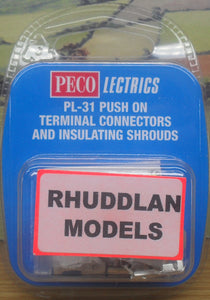 PECO LECTRICS PL-31 PUSH ON TERMINAL CONNECTORS AND INSTALLING SHROUDS - (PRICE INCLUDES DELIVERY)