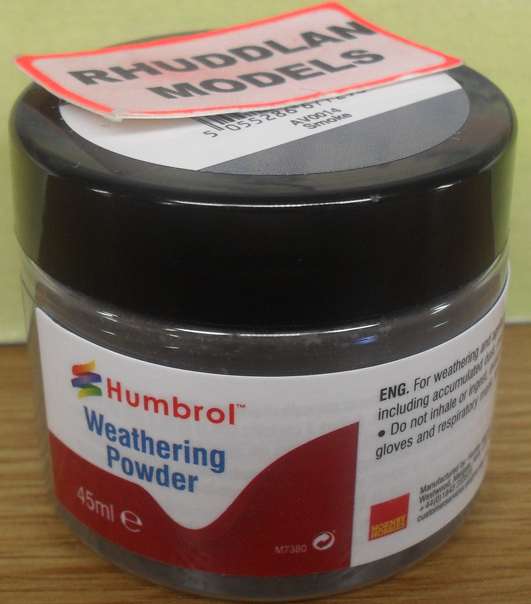 HUMBROL WEATHERING POWDER  AV0014 SMOKE - (PRICE INCLUDES DELIVERY)