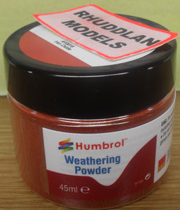HUMBROL WEATHERING POWDER  AV0016 IRON OXIDE - (PRICE INCLUDES DELIVERY)