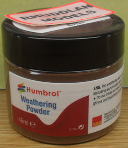 HUMBROL WEATHERING POWDER AV0017 DARK EARTH - (PRICE INCLIDES DELIVERY)
