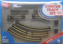 Load image into Gallery viewer, PECO ST-300 N GAUGE STARTER TRACK SET 1ST RADIUS CURVES - (PRICE INCLUDES DELIVERY)