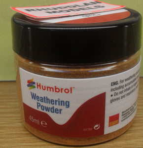HUMBROL WEATHERING POWDER AV0018 LIGHT RUST - (PRICE INCLIDES DELIVERY)