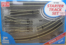 Load image into Gallery viewer, PECO ST-100 OO/1:76 STARTER TRACK SET 2ND RADIUS CURVES - (PRICE INCLUDES DELIVERY)
