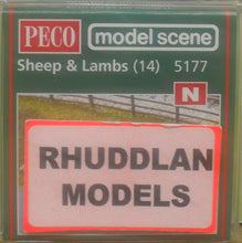 Load image into Gallery viewer, MODEL SCENE ACCESSORIES NO.5177 N GAUGE SHEEP & LAMB (14)  - (PRICE INCLUDES DELIVERY)