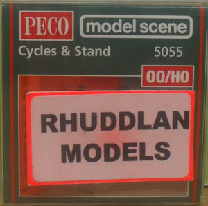 MODEL SCENE ACCESSORIES NO.5055 OO/1:76 CYCLES & STANDS - (PRICE INCLUDES DELIVERY)