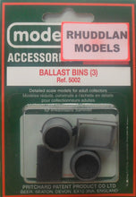 Load image into Gallery viewer, MODEL SCENE ACCESSORIES NO.5002 OO/1:76 LEVEL BALLEST BINS (3) - (PRICE INCLUDES DELIVERY)