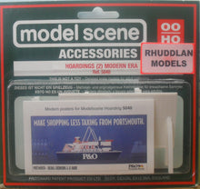 Load image into Gallery viewer, MODEL SCENE ACCESSORIES NO.5040 OO/1:76 HOARDINGS (2) MODERN ERA - (PRICE INCLUDES DELIVERY)