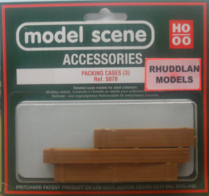 MODEL SCENE ACCESSORIES NO.5070 OO/1:76 PACKING CASES (3) - (PRICE INCLUDES DELIVERY)