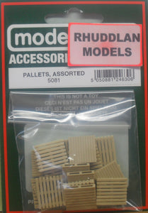 MODEL SCENE ACCESSORIES NO.5081 OO/1:76 PALLETS ASSORTED - (PRICE INCLUDES DELIVERY)