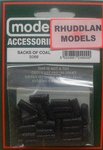 MODEL SCENE ACCESSORIES NO.5066 OO/1:76 SACKS OF COAL - (PRICE INCLUDES DELIVERY)