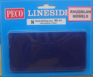 PECO LINESIDE NB-44  N GAUGE BRICK WALLING (4) - (PRICE INCLUDES DELIVERY)