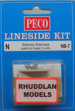 Load image into Gallery viewer, PECO NB-7 N GAUGE SUBWAY STAIRCASE - (PRICE INCLUDES DELIVERY)
