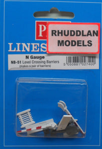 PECO NB-51 N GAUGE LEVEL CROSSING BARRIERS - (PRICE INCLUDES DELIVERY)