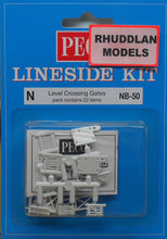 Load image into Gallery viewer, PECO NB-50 N GAUGE LEVEL CROSSING GATES - (PRICE INCLUDES DELIVERY)