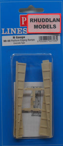 PECO NB-68 N GAUGE PLATFORM EDGING RAMPS (CONCRETE TYPE) - (PRICE INCLUDES DELIVERY)
