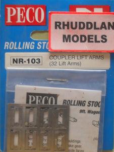 PECO NR-103 N GAUGE 4 COUPLER LIFT ARMS - (PRICE INCLUDES DELIVERY)