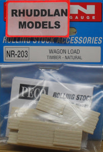 PECO NR-203 N GAUGE WAGON LOAD TIMBER-NATURAL - (PRICE INCLUDES DELIVERY)