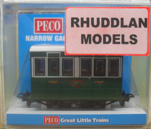 PECO GREAT LITTLE TRAINS GR-505 NARROW GAUGE TALYLLYN RAILWAY (GVT) 4 WHEEL COACH - (PRICE INCLUDES DELIVERY)