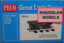 Load image into Gallery viewer, PECO GREAT LITTLE TRAINS OR-21 OO-9 2 TON FLAT WAGON KIT - (PRICE INCLUDES DELIVERY)
